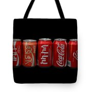 Coke Cans Tote Bag