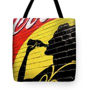 Coke Girl Silhouette  Tote Bag