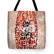 Coke Typography Tote Bag