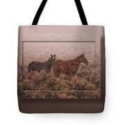 Cold And Blowing Snow Tote Bag