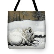 Cold And Tired Tote Bag