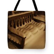 Cold Bench In The Snow Tote Bag