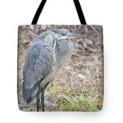 Cold Blue Heron Tote Bag