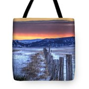 Cold Country Sunrise Tote Bag