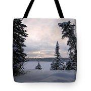 Cold Dawn On Boot Lake Tote Bag