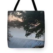 Cold Foggy Morning #2 Tote Bag