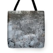 Cold Morning Tote Bag