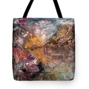 Mountain's, Cold Morning Light Tote Bag