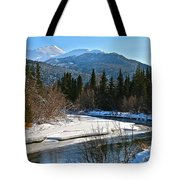 Cold River Bend Tote Bag