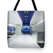 Cold Tree In A Field Of Blue Interior Design Tote Bag