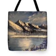 Cold Winter Lake Tote Bag