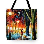 Cold Winter Tote Bag