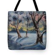 Cold Winter Tote Bag