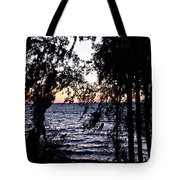 Cold Winter Sunset Tote Bag