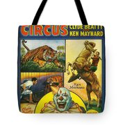 Cole Bros Circus With Clyde Beatty And Ken Maynard Vintage Cover Magazine And Daily Review Tote Bag