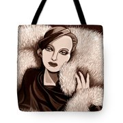 Colette In Sepia Tone Tote Bag