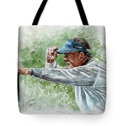Colin Montgomery Watercolor Tote Bag