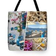 Collage Of Crete  Tote Bag