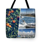 Collage Of Cyprus Images Tote Bag