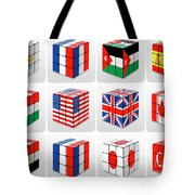 Collage Of Flags Of Different Nation  Tote Bag