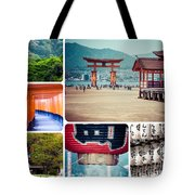 Collage Of Japan Images Tote Bag