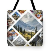 Collage Of Kyrgyzstan Tote Bag