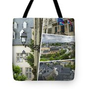 Collage Of Luxembourg Images Tote Bag
