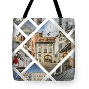 Collage Of Riga Tote Bag