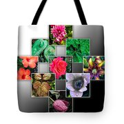 Collage Of Spring Flowers Tote Bag