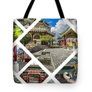 Collage Of Taoist Temple In Cebu, Philippines. Tote Bag