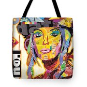 Collage Portrait Tote Bag by Oprisor Dan