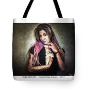 Collared Girl Iv Tote Bag