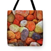 Collecting Pebbles Tote Bag