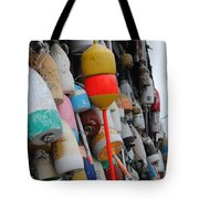 Collection Of  Buoys In Bar Harbor Maine Tote Bag
