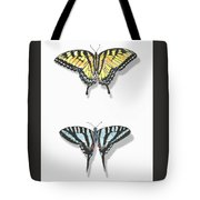 Collection Of Two Butterflies Tote Bag