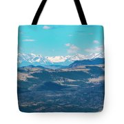 Collegiate Peaks From Little Grouse Mountain Tote Bag