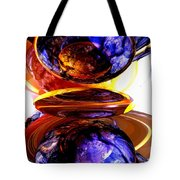 Colliding Forces Abstract Tote Bag