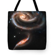 Colliding Galaxies Tote Bag