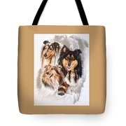 Collie W/ghost Tote Bag