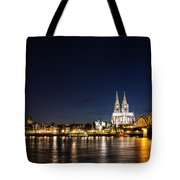 Cologne At Night Tote Bag by Alexandra-Emily Kokova