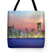 Colombia. Cartagena. The City At Night. Tote Bag