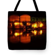 Colonial Beach Docks After Dark Tote Bag