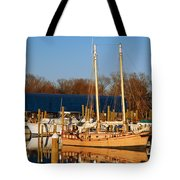 Colonial Beach Docks Tote Bag