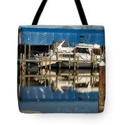 Colonial Beach Marina Tote Bag