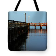 Colonial Beach Town Pier Tote Bag