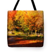 Colonial Fall Colors Tote Bag