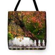 Colonial Fall Colors Tote Bag