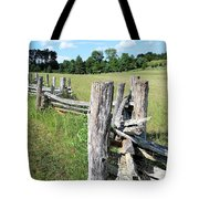 Colonial Fence At The Home Of Booker T Washington Tote Bag