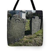 Colonial Graves At Phipps Street Tote Bag by Wayne Marshall Chase