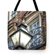 Colonial Lamp And Window Tote Bag